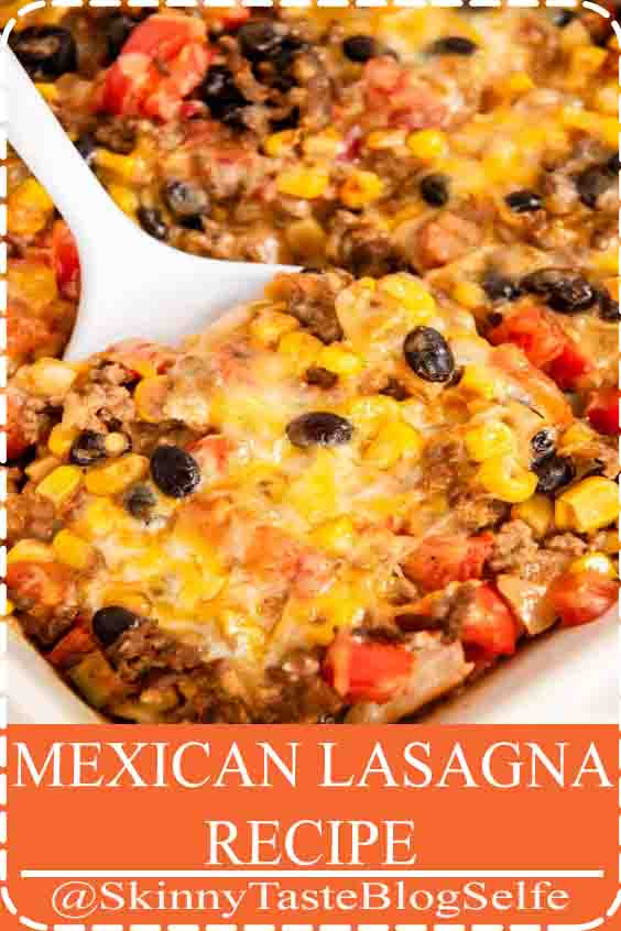 4.7 | ★★★★★ Easy Mexican Lasagna - Delicious layers of crispy tortillas, seasoned hamburger, beans, corn and melted cheese. The perfect weeknight dinner that's full of flavor!#MEXICAN #LASAGNARECIPE #Delicious #crispy
