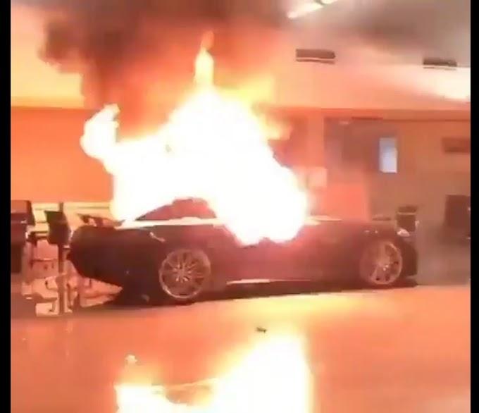 George Floyd: Mercedes Cars Damaged As Rioters Vandalise Showroom (photos)