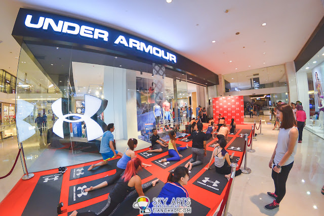 Yoga session with Atilia Haron at Under Armour Pavilion KL