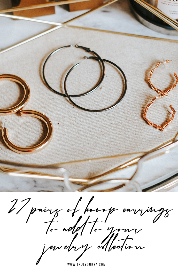 "My motto for 2020: ""no outfit is complete without a pair of hoop earrings!"" These (usually) round ear embellishments can be a simple or outrageous accessory that adds the perfect finishing touch, no matter the occasion. My current personal favorite has been a thick gold hoop, but I can't wait to add a couple pairs from today's post. Keep reading for my picks for hoop earrings that you should add to your jewelry collection ASAP! #hoopearrings #jewelry #springjewelry #springfashion"