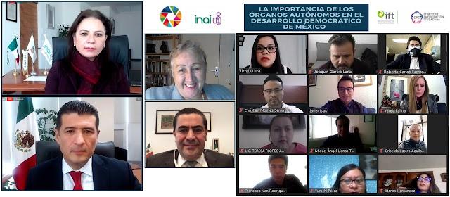 Función de órganos autónomos no puede quedar sujeta a ningún poder público: representantes de INAI, INE, INEGI Y UNAM