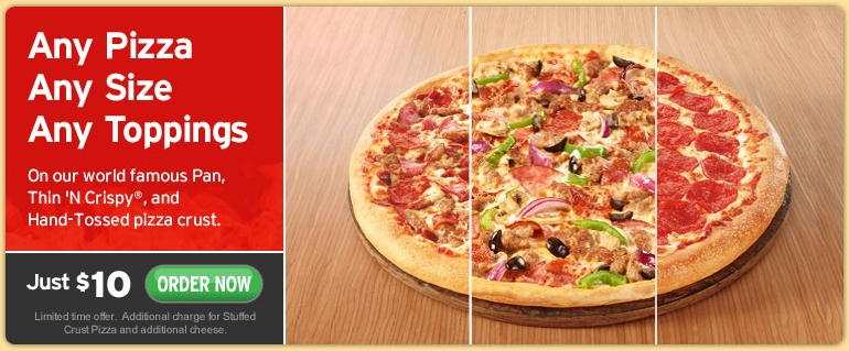 Pizza Hut Coupons. Feeling hungry and craving a stuffed crust pizza from Pizza Hut? Check out the Pizza Hut vouchers listed on our site and use them at the restaurant chain's website to order mout.