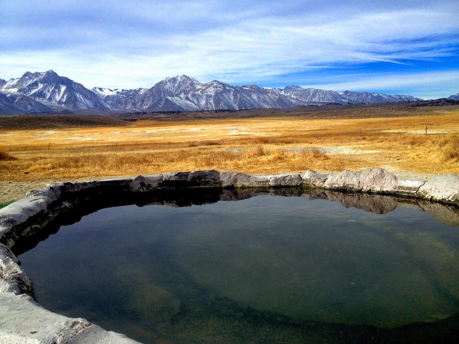 Pulkey's Pool Hot Springs near Mammoth Lakes California ~ Adventures