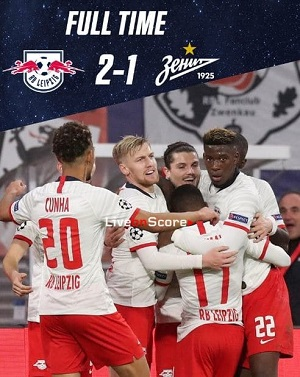 cuplikan gol liga champions leipzig vs zenit 2-1