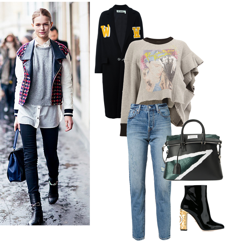 shoes fall 2016, best buys fall 2016, margiela sweatshirt outfit, street styel looks