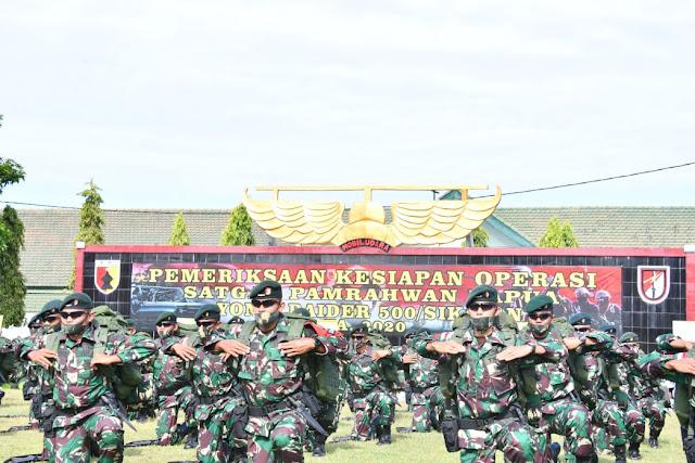 Kasum TNI Periksa Kesiapan Operasi Satgas Pamrahwan Papua YR 500 Sikatan