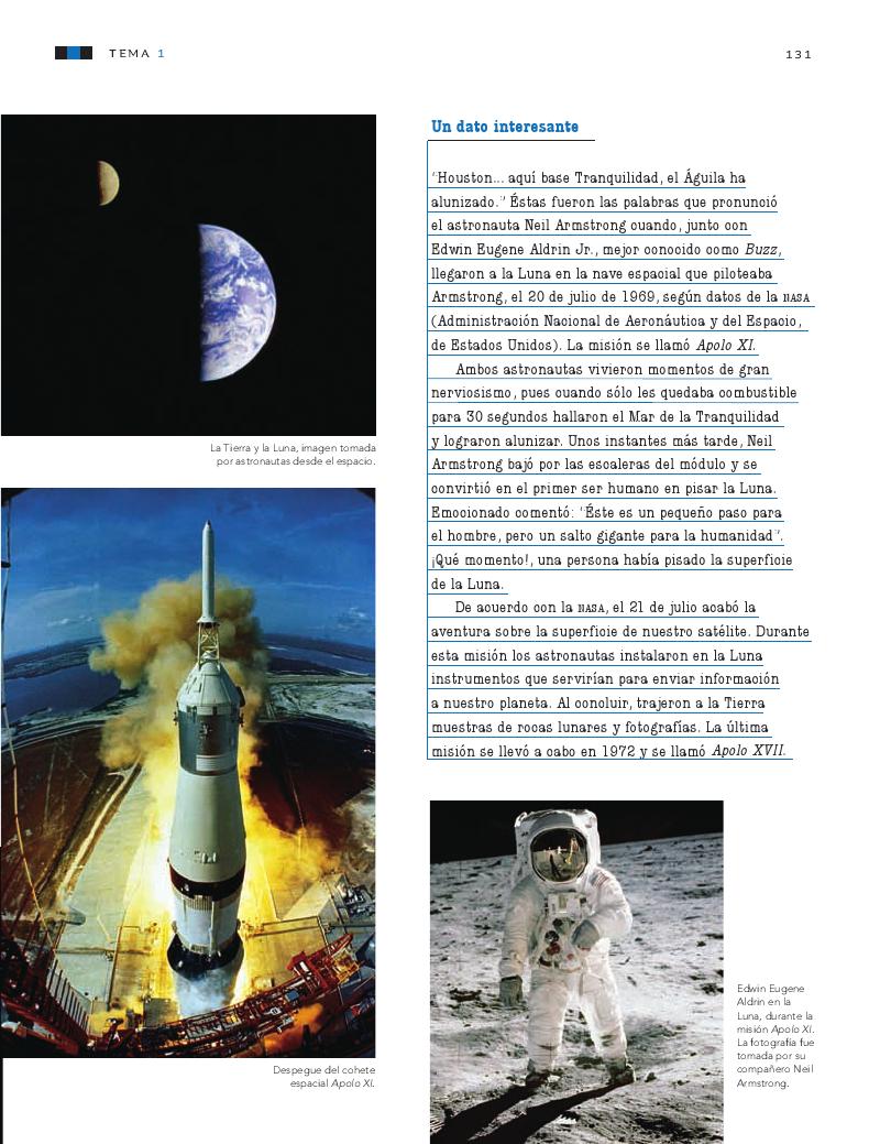 Los movimientos de la luna y la tierra - Ciencias
