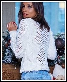 pulover s ajurnimi vstavkami