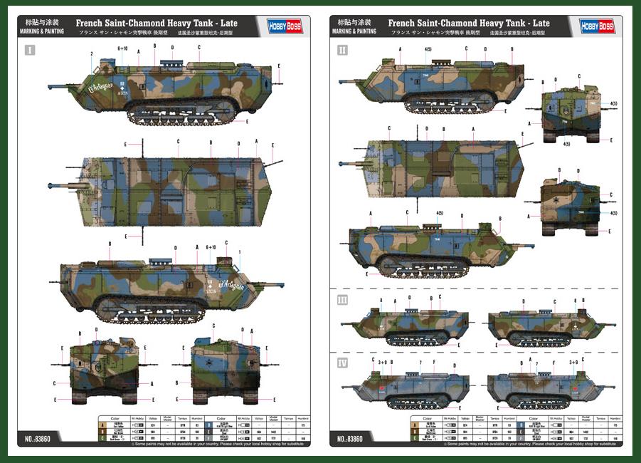 Hobby Boss 1:35 French Saint-Chamond Heavy Tank Late Plastic Model Kit #83860