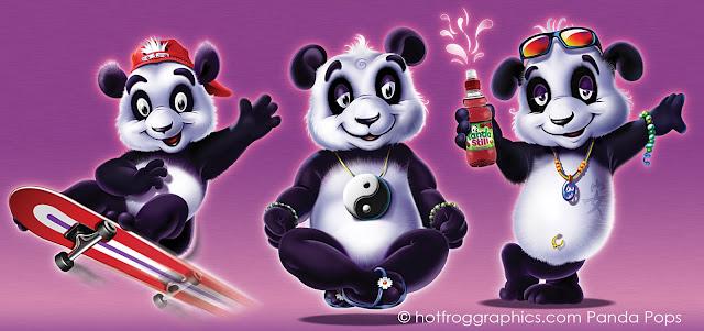 Panda Pops characters by Paul Morton