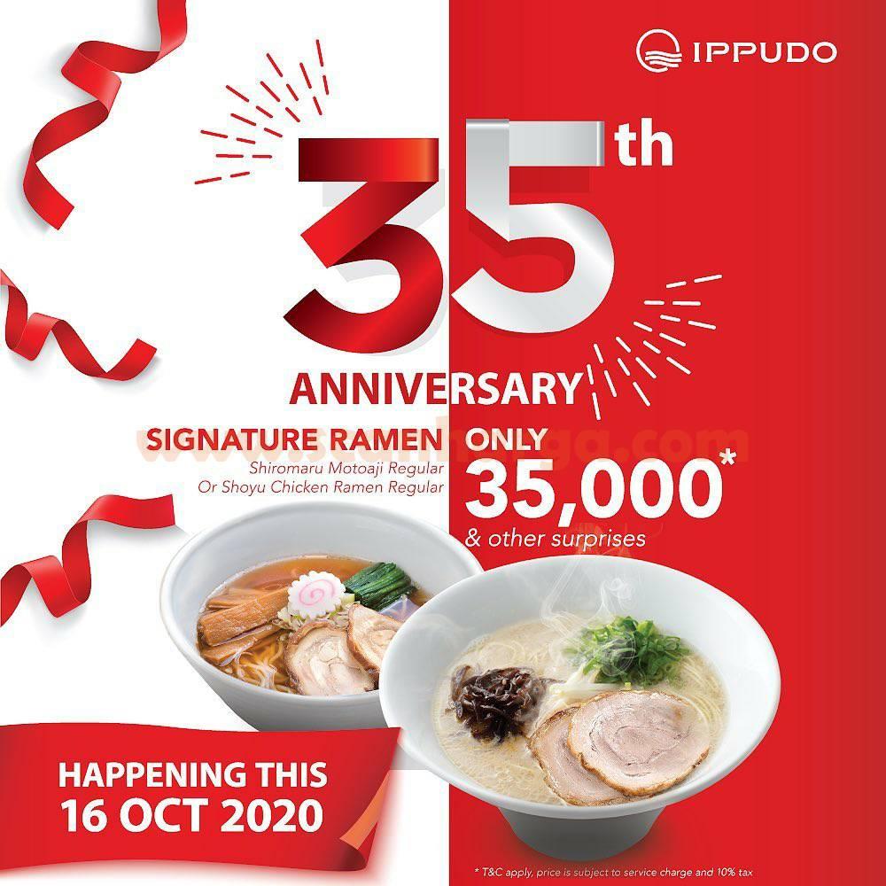 Promo IPPUDO 35th Anniversary - Signature Ramen Only 35.000*