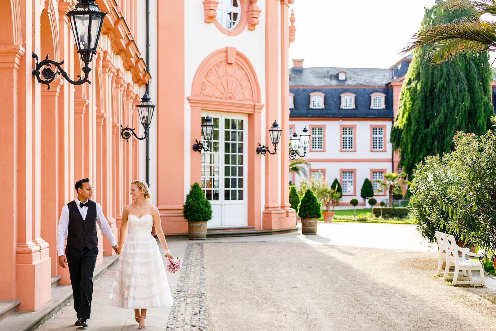 Standesamtliche Trauung im Schloss Biebrich, Wiesbaden.