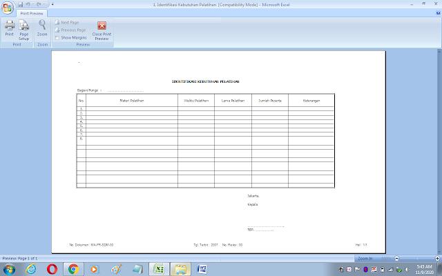 Format identifikasi kebutuhan pelatihan guru/karyawan