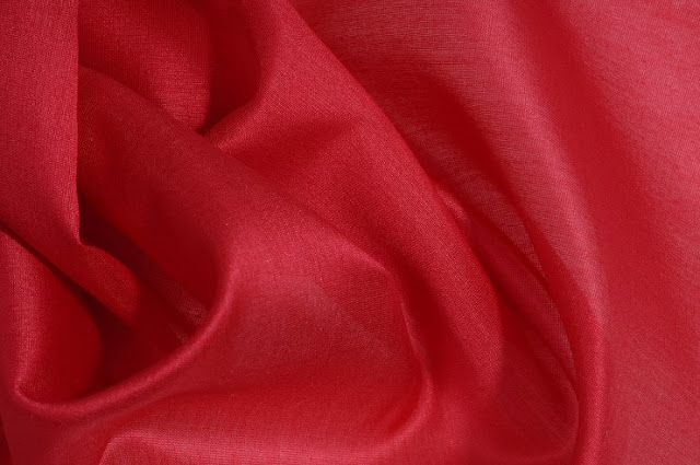 Lipstick Red Cotton Silk Fabric