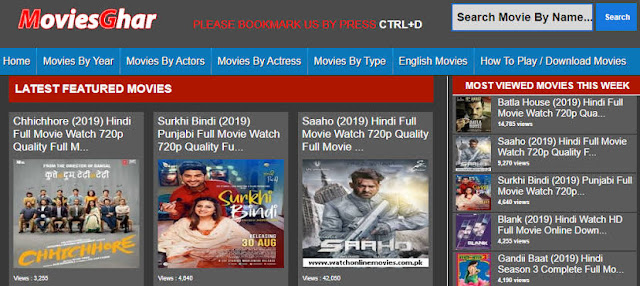 Moviesghar Hollywood Dubbed in Hindi, Bollywood Movies Download & New Domain Link