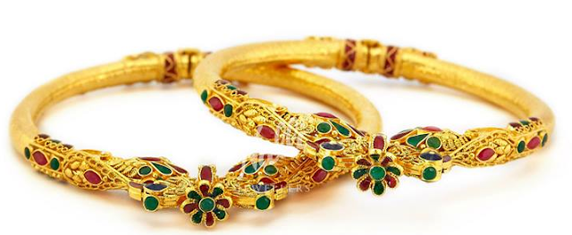 peacock design bangles