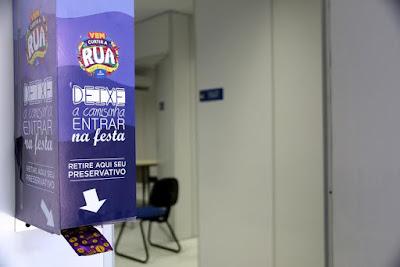 SMS distribuiu preservativos durante o Carnaval