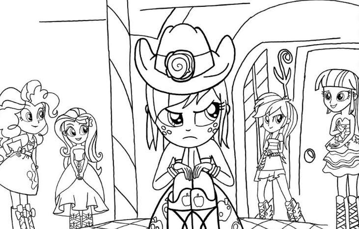 Gambar Mewarnai Equestria Girl My Little Pony Gambar Mewarnai Lucu