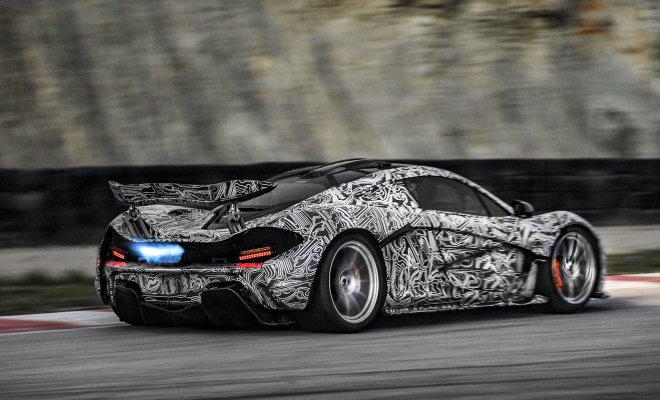 McLaren P1 prototype on track