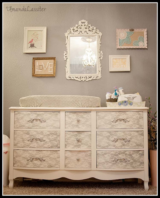 Lace Dresser for Baby Nursery