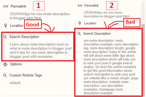 6 Tips For SEO Meta Description In Blogger Post with Example