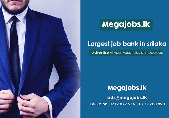 Largest Job bank in Sri Lanka.  MegaJobs.lk  All the Job vacancies are visible 24x7 as long as you need. Use megajobs.lk – Recruitment solutions for all!  #jobs #jobbank #megajobs #vacancy
