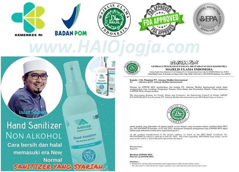 produk haio hand sanitiser