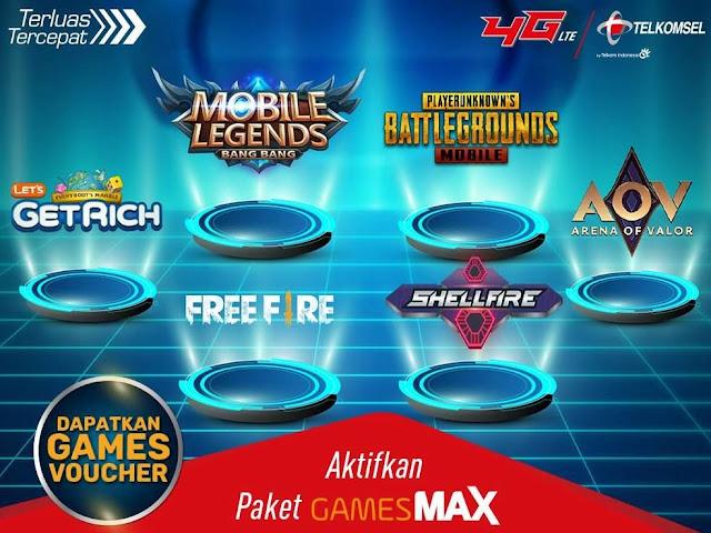 Paket Internet Telkomsel 30GB Rp 25 Ribu GamesMax Unlimited Play