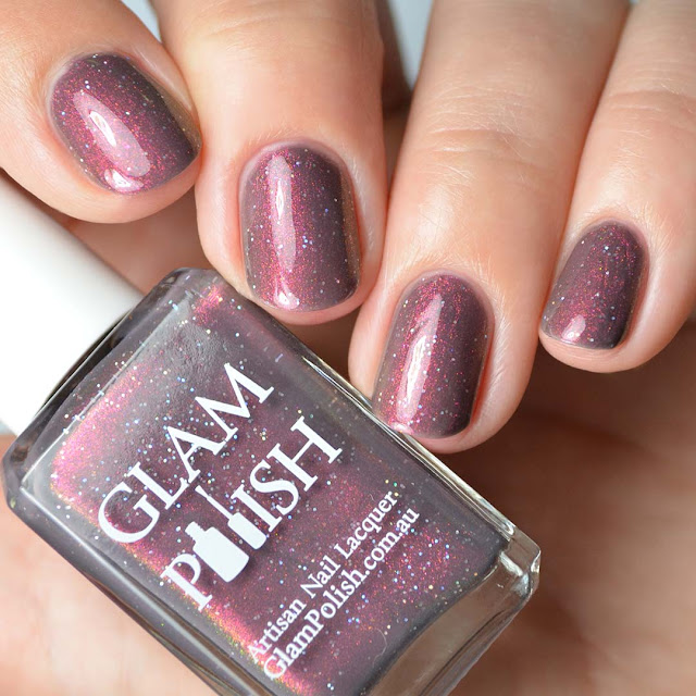 grey shimmer nail polish