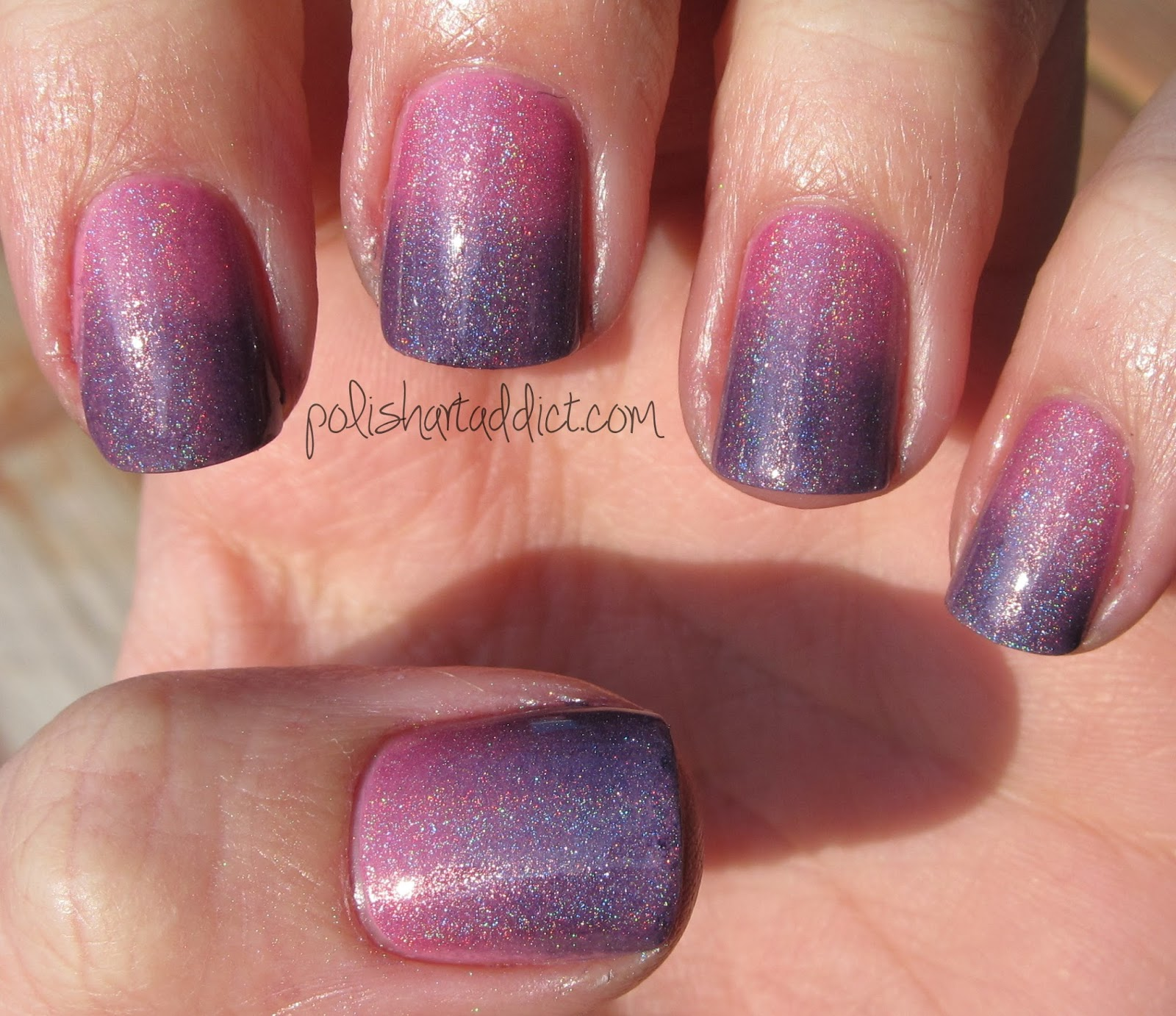Pink and Purple Holographic Gradient