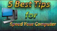 কম্পিউটারকে আগের থেকে স্পিড করে ফেলুন ৫ টি টিপস দিয়ে । Speed up your computer with 5 tips - MR Laboratory
