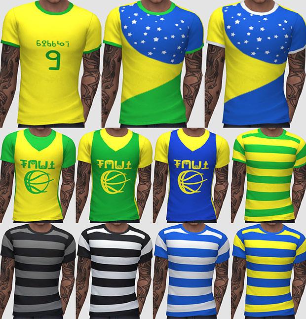 TodaSims: Camisetas Brasil