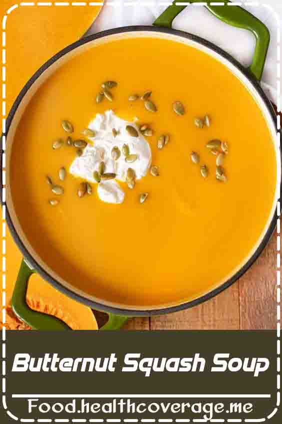 Butternut Squash Soup is the perfect fall soup with apples that's healthy and creamy and easy for weeknights or your holiday meal!