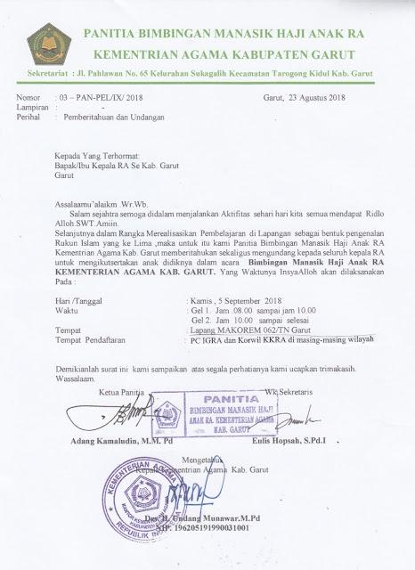 Contoh Surat Undangan Resmi Lembaga