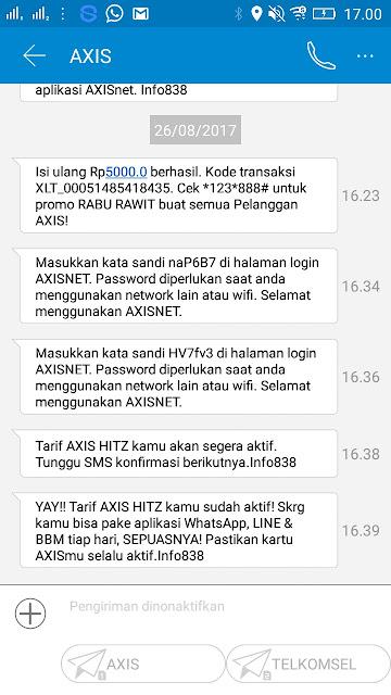Tarif Axis Hitz