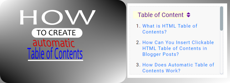 SEO benefits of html table of contents