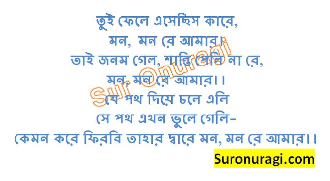 Tui Phele Esechis Kare Lyrics (তুই ফেলে এসেছিস কারে)