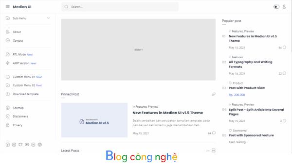 Share Template Median UI v1.5 Blogspot Premium