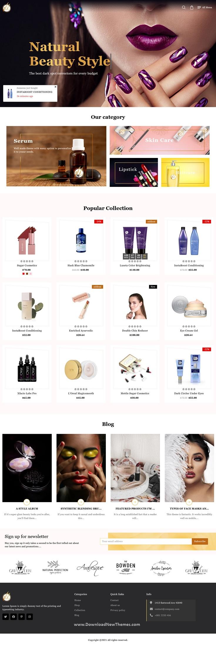 Beauty Cosmetic Shopify Theme