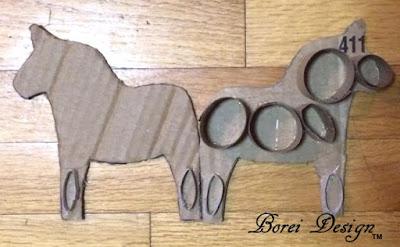 how to make a paper mache recycled book page Swedish dala horse dalahast