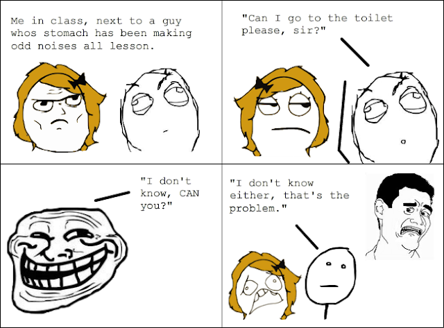 Trollface comic, not very funny
