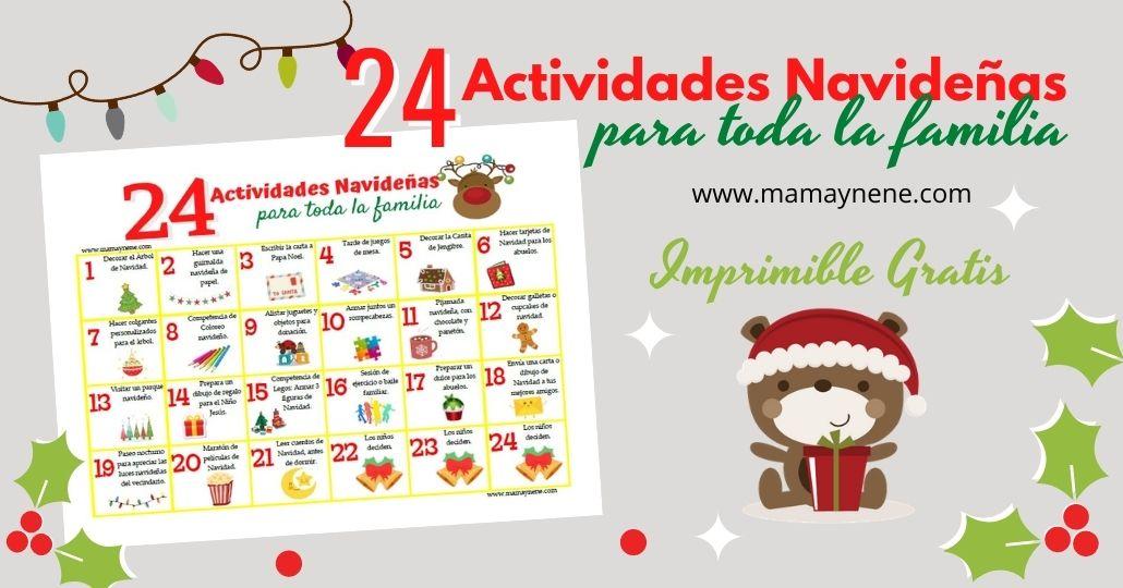 24 Actividades Navideñas para toda la familia - Imprimible gratis