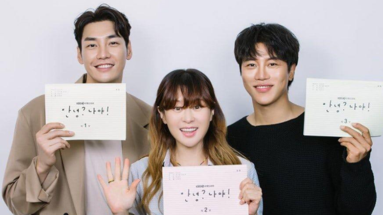 Choi Kang hee Kim Young kwang more attend first script reading for new KBS2 drama Hello Its Me