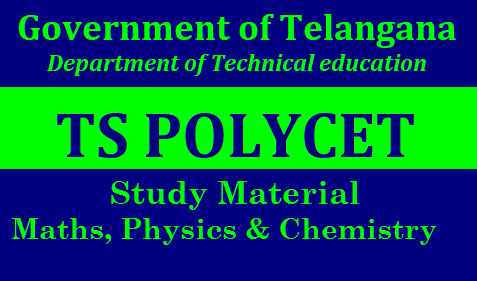 TS Polycet Maths Physics and Chemistry Study Material Download