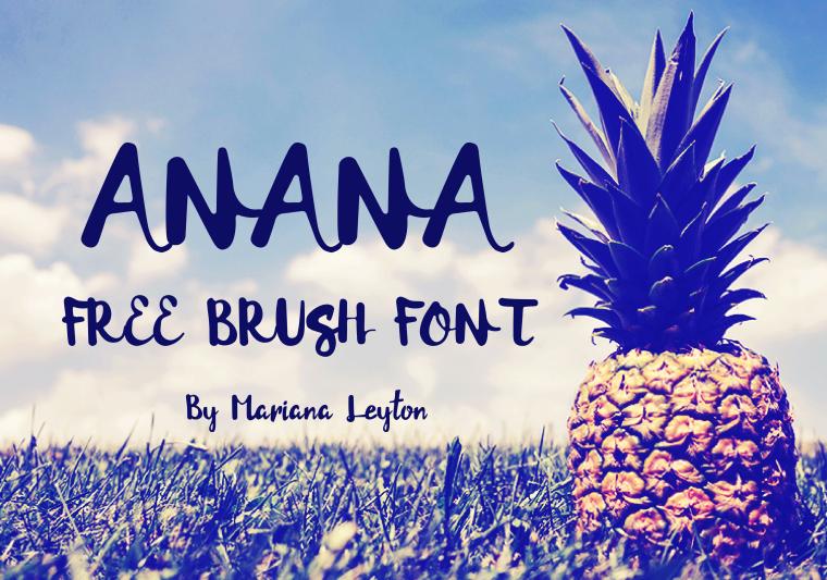 20 Script Font Terbaik 2016 - Anana Brush Font