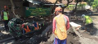 Koramil 0820/01 Kanigaran Wujudkan 8 Wajib TNI Dengan Karya Bhakti TNI