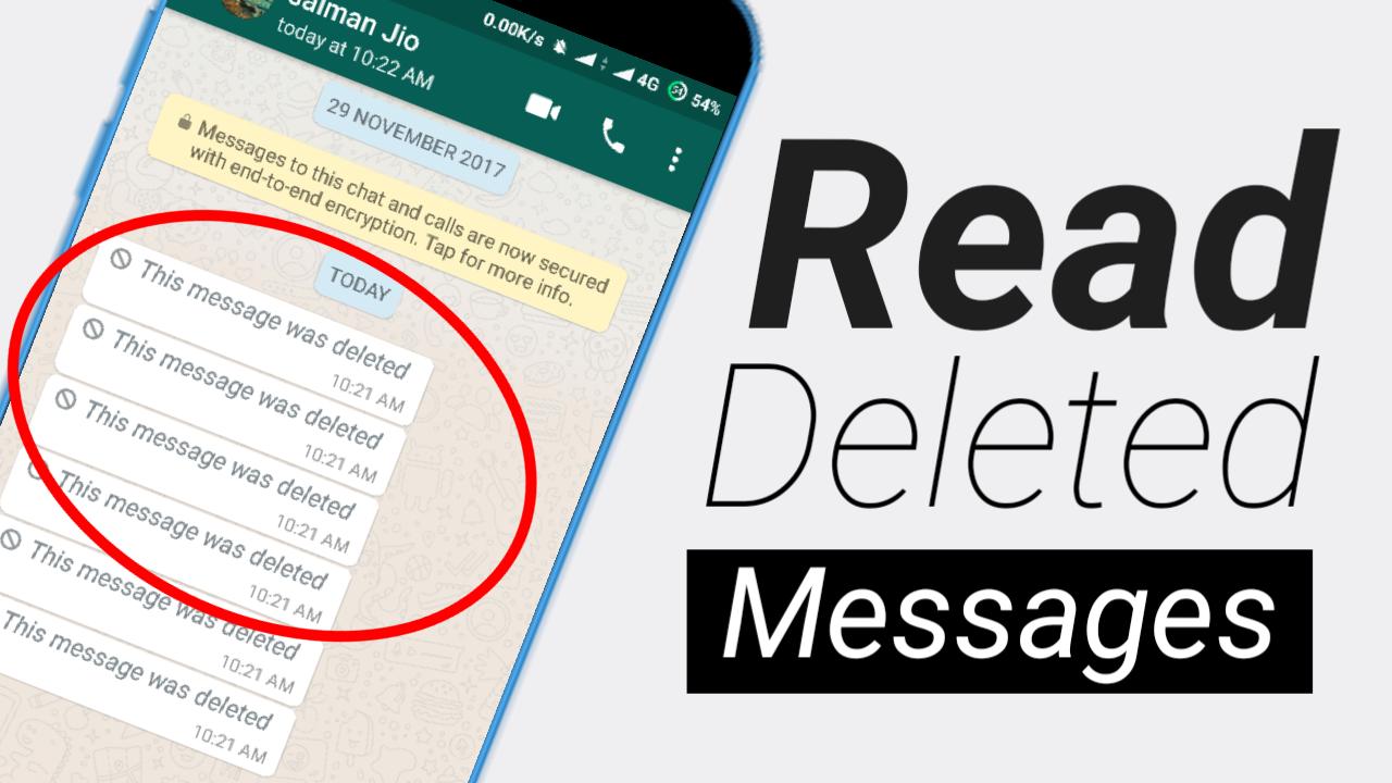 كيفية قراءة الرسائل المحدوفه على الواتس اب و الفايسبوك بكل سهولة