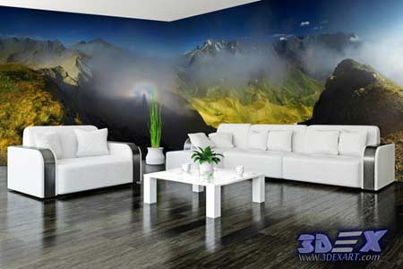 New 3D Wallpaper Designs For Wall Decoration In The Home