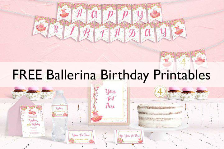 ballerina birthday printables