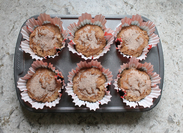 Food Lust People Love: These cinnamon brown butter sourdough muffins are fluffy and tender, lightly sweetened and flavorful, perfect for breakfast or snack time.